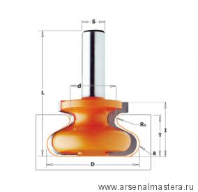 CMT 955.601.11 Фреза профильная для ручек интегрированных в мебель S12 D47,6x28,5 R6,35