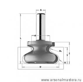 CMT PRO 955.3818 Фреза профильная для ручек интегрированных в мебель S8 D38,1x20,7
