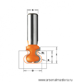CMT 955.102.11 Фреза профильная для ручек интегрированных в мебель S8 D19,05x19,05