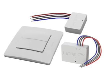 Комплект HiTE PRO KIT-2 (двухклавишный радиовыключатель + 2 реле + рамка) Белый