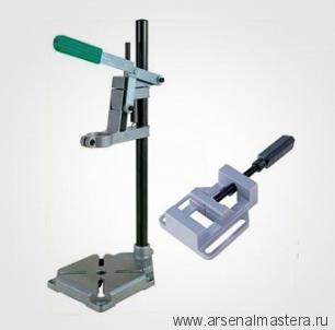 Стойка для дрели с круглой колонной и тисками d43 мм 160х160 мм 3406301 Wolfcraft