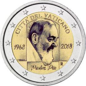 50 лет со дня смерти падре Пио 2 евро Ватикан 2018
