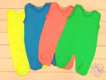 """Ползунки для новорожденных однотонные """"с ушками"""" на кнопках (код 01683 или A-PZ300(e)-SU) оптом """"Мамин Малыш"""""""