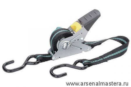 Натяжитель ленты с храповым механизмом (4м, до 100кг, с крючками) Wolfcraft 3271000