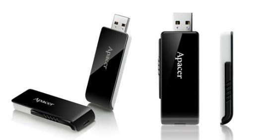 USB накопитель 3.0 Apacer  32GB AH350 black