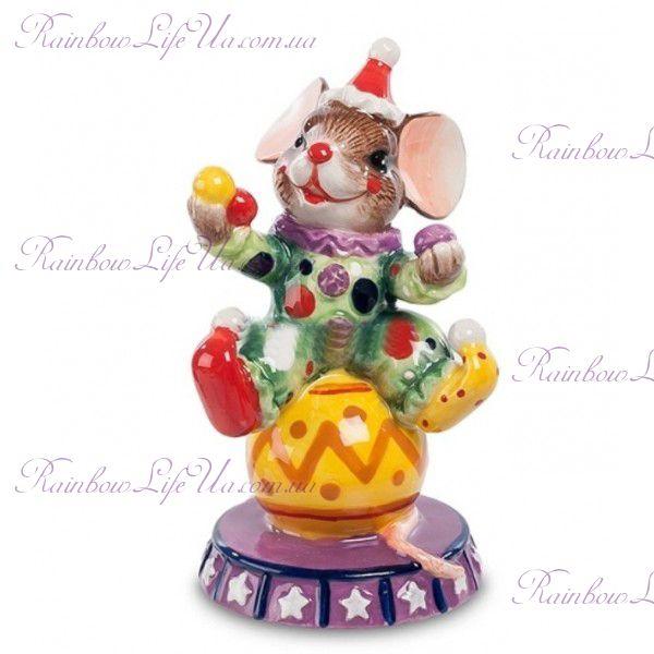 """Фигурка мышонок клоун """"Pavone"""""""
