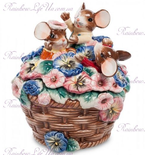 "Шкатулка мышки цветочный рай ""Pavone"""