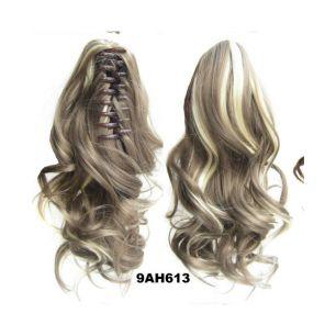 Искусственные термостойкие волосы на зажиме волнистые №009AH613 (40 см) -  90 гр.
