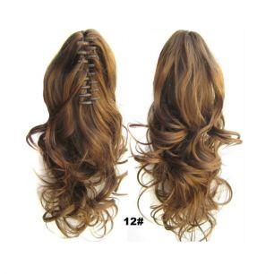 Искусственные термостойкие волосы на зажиме волнистые №012 (40 см) -  90 гр.