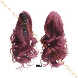 Искусственные термостойкие волосы на зажиме волнистые №099J (40 см) -  90 гр.