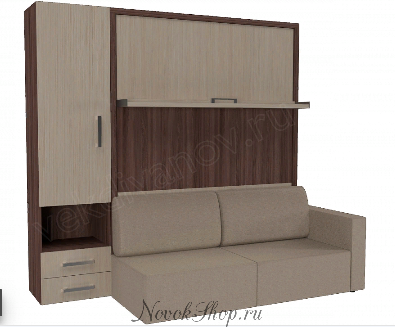 Шкаф-диван-кровать СМАРТ-2