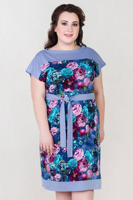 Платье арт.0912 лаванда, кулирка