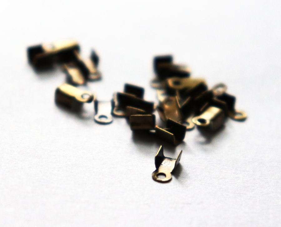 Концевики, 3*2 мм, Бронза, 20 шт/упак