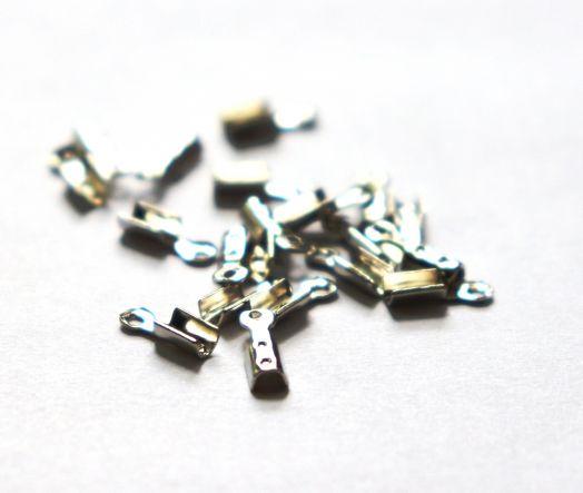 Концевики, 5*2 мм, Никель, 20 шт/упак