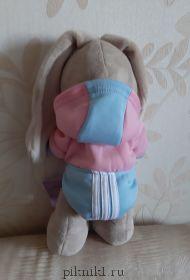 Спортивная толстовка с капюшоном розово-голубая
