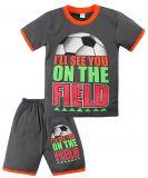 Комплект темно-серый с принтом футбол