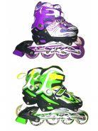 Роликовые коньки для девочек, раздвижные 28-33, LEDподсветка, подшипник ABEC-7, рама алюминиевая, 3 цвета в ассортименте (арт. AN 148G)