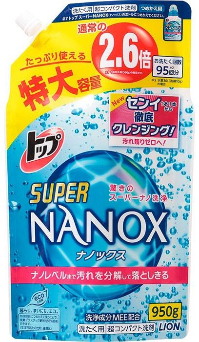 АКЦИЯ! Гель для стирки (концентрированный) Top Super NANOX LION 950 мл