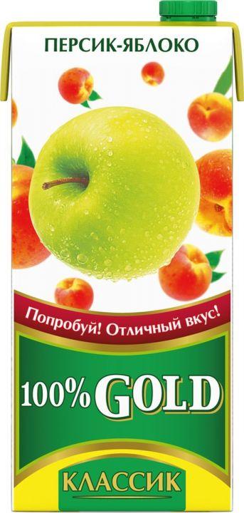 Напиток сок.100% Gold Классик 0,95л Персик/Яблоко