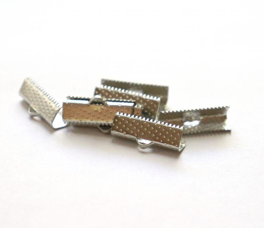 Зажим для ленты, никель, 20 мм, 8 шт/упак