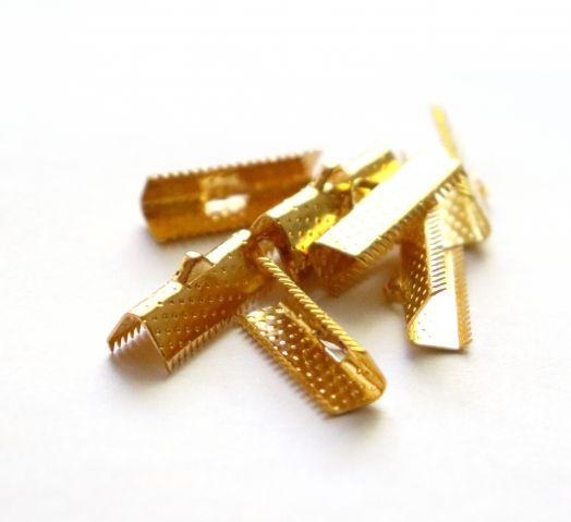 Зажим для ленты, Золото, 20 мм, 8 шт/упак