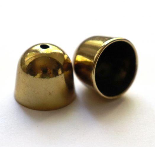 Колпачок пластиковый, с отверстием, D-18 мм, Светлая бронза, 2 шт/упак