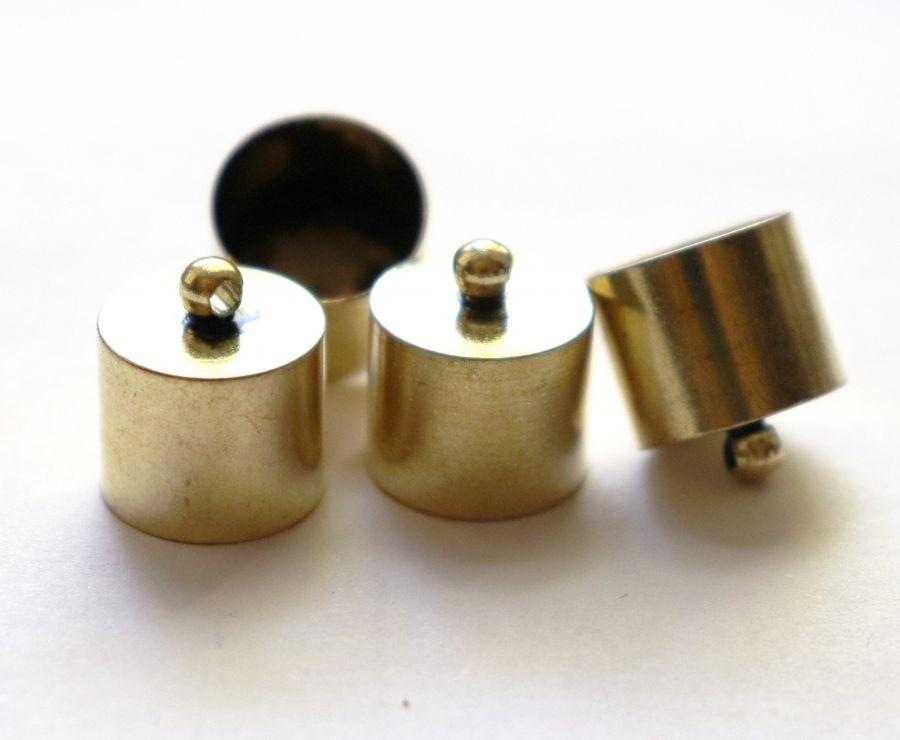 Колпачок цилиндр, с петелькой, D-14 мм, Светлая бронза, 4 шт/упак