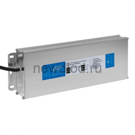 Блок питания герметичный компактный  ELF, 12В, 200Вт, металл, IP67