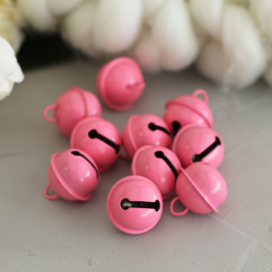 Бубенчики - 2 см Розовые