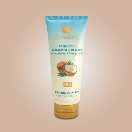 Восстанавливающая маска для волос с Кокосовым маслом Health & Beauty (Хелс энд Бьюти) 200 мл