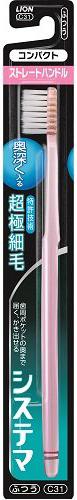 Lion Dentor Systema Зубная щётка с плоским срезом компактная