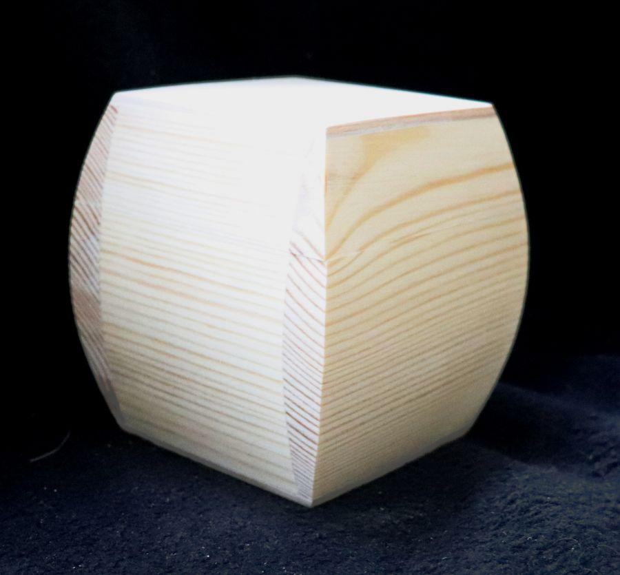 Шкатулка для декупажа, массив сосны, 10*10*10 см