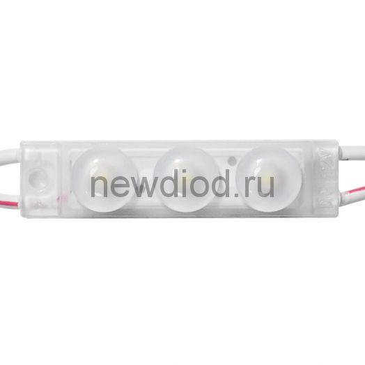 Модуль светодиодный ELF Ultra 3, 3SMD диода 2835, с линзой, 150гр.,12В,  IP68, белый