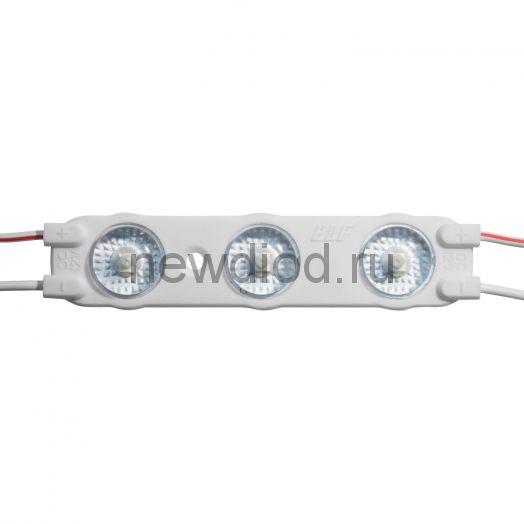Модуль светодиодный ELF VIVO-2019, 3SMD диод 2835, с линзой, 12В, IP67, красный