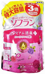 Lion Soflan Кондиционер для белья аромат букета роз мягкая упаковка 1440 мл