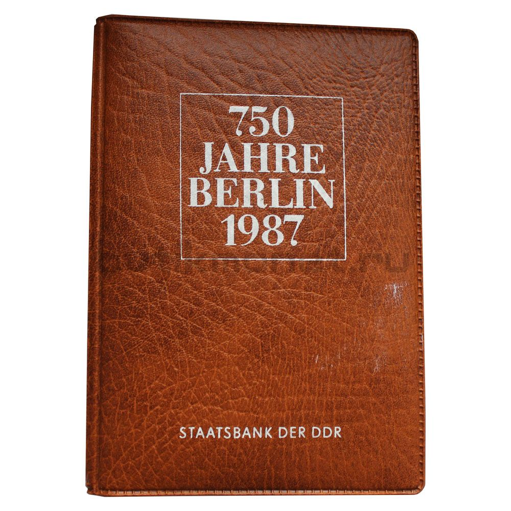 Набор 5 марок 1987 ГДР 750 лет Берлину (4 монеты и жетон)