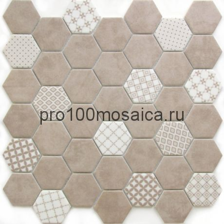 Avon керамика 48*54. Мозаика серия CERAMIC, Соты, размер, мм: 302*300*6 (BONAPARTE)