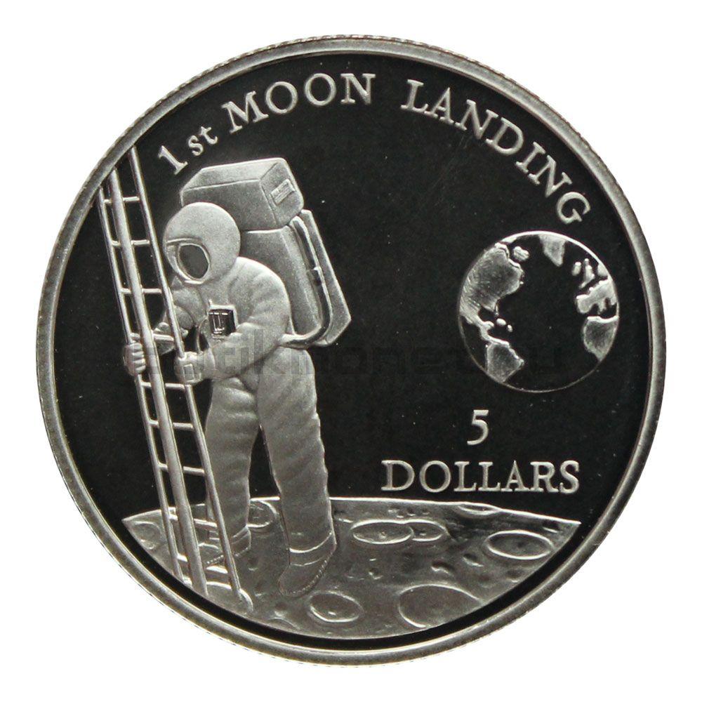 5 долларов 1992 Ниуэ Первая посадка на Луну