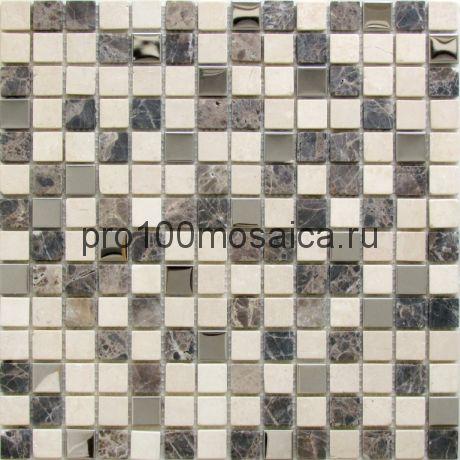 Oxford камень-металл 20*20. Мозаика серия STONE,  размер, мм: 305*305*6 (BONAPARTE)