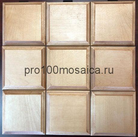 Бесшовная деревянная мозаика из березы серия WOOD, 330*330*10 мм (GWD)