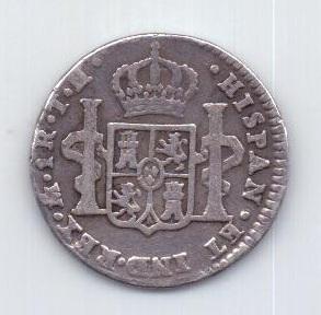 1 реал 1810 года Редкий Мексика Испания