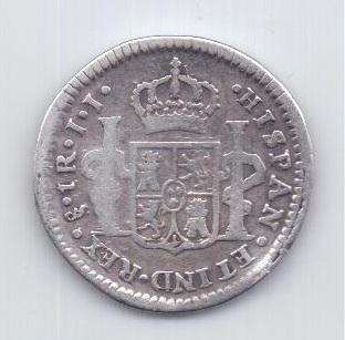 1 реал 1802 года Чили Испания