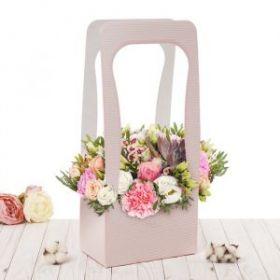 Сумочка для цветов «Красота в деталях», 23 х 45 х 13 см