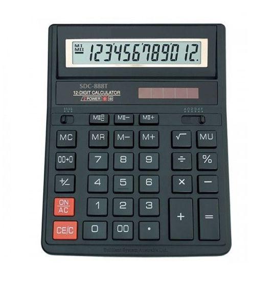 Настольный 12-Разрядный Калькулятор С Двойным Питанием SDC-888T