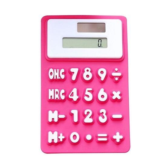 Силиконовый Гибкий 8-Разрядный Калькулятор На Магните №256, Цвет Розовый