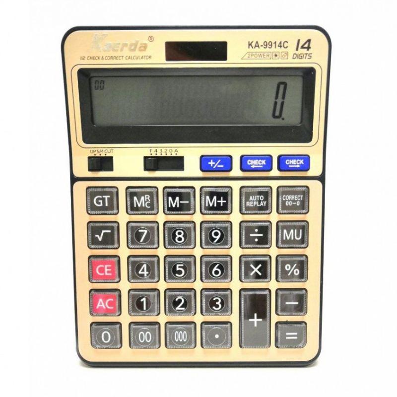 Настольный 14-Разрядный Калькулятор С Двойным Питанием Kaerda KA-9914C