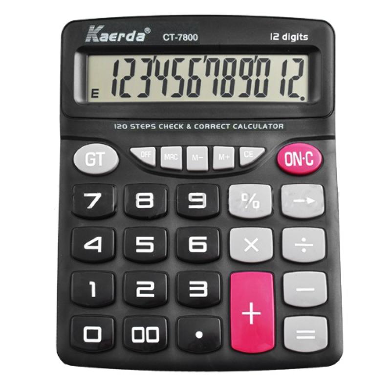 Настольный 12-Разрядный Калькулятор С Большими Кнопками Kaerda CT-7800