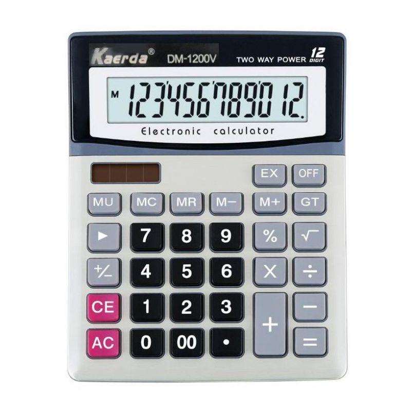 Настольный 12-разрядный калькулятор с двойным питанием Kaerda DM-1200V