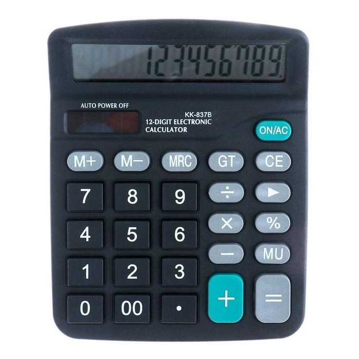 Настольный 12-Разрядный Калькулятор С Двойным Питанием Kaerda KK-837B
