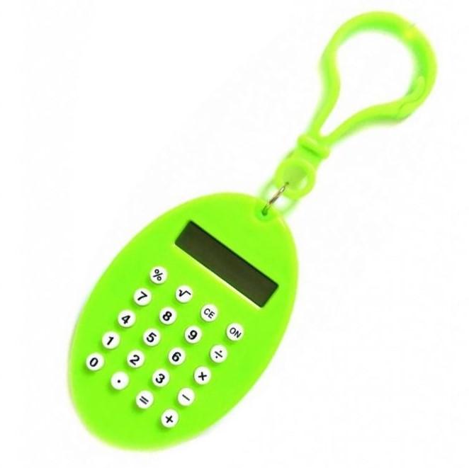 Брелок 8-Разрядный Калькулятор Овал, Цвет Зеленый